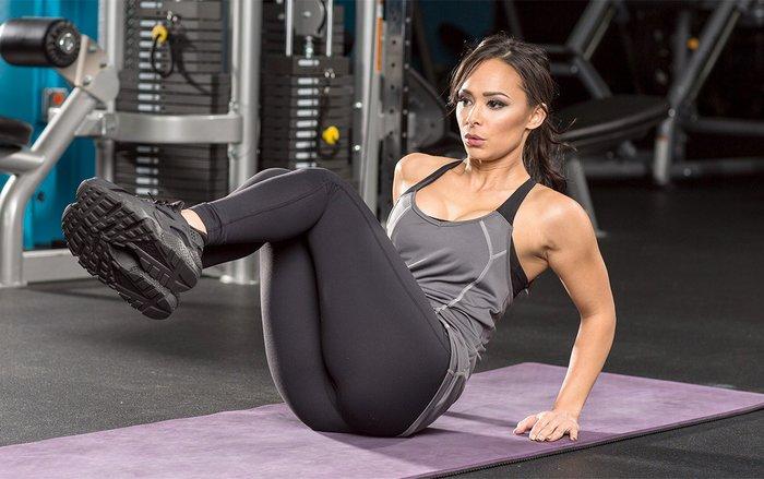 Katie Chung Hua ab exercise.