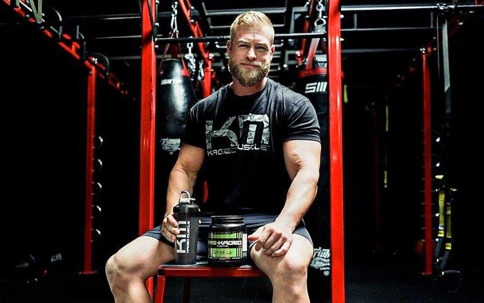 Kaleb Redden in the gym.